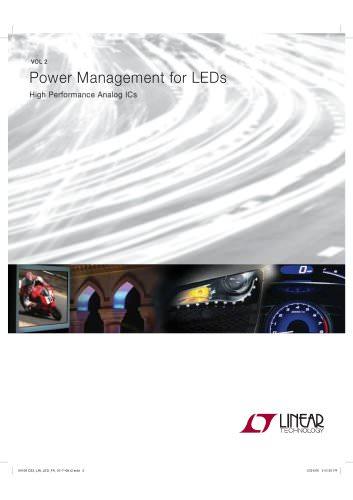Power Management for LEDs High Performance Analog ICs VOL 2 04109