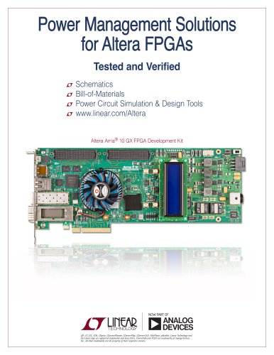 Power Management Solutions for Altera FPGAs