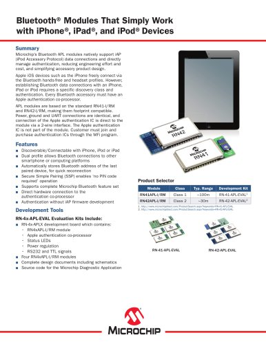 Bluetooth Modules for Apple Sell Sheet