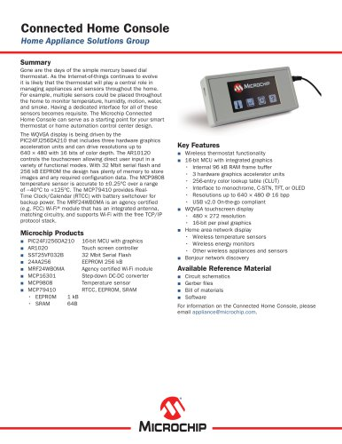 Connected Home Console Sell Sheet