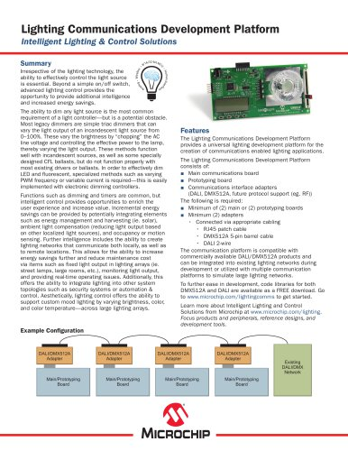 Lighting Communications Development Platform Sell Sheet