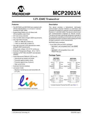 LIN J2602 Transceiver