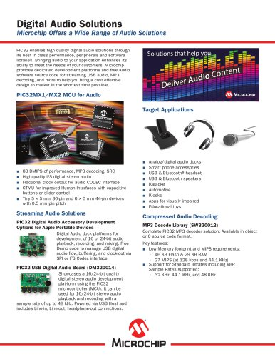 PIC32 Audio Sell Sheet