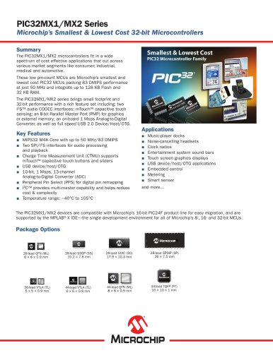 PIC32MX1XX/2XX Family Product Overview