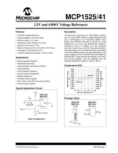 Power Management MCP1525/41