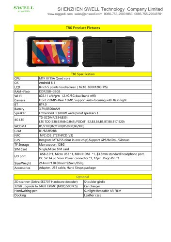 SWELL T86 Mobile industrial laptop