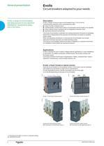 Catalogue Evolis circuit breakers 17.5kV - 4