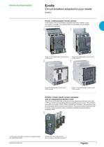 Catalogue Evolis circuit breakers 17.5kV - 5