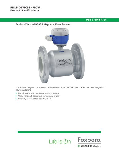 Foxboro® Model 9500A Magnetic Flow Sensor