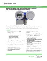 Model CFT51 Digital Coriolis Mass Flow and Density Transmitter with HART® or Modbus™ Communication Protocol - 1