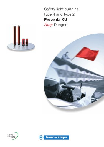 Safety light curtains type 4 and type 2 Preventa XU Stop Danger