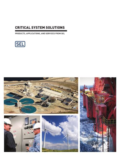 Critical System Solutions:  Products, Applications, and Services From SEL
