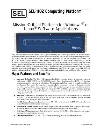 SEL-1102 Computing Platform