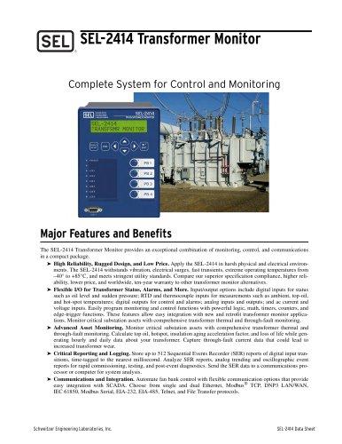 SEL-2414 Transformer Monitor