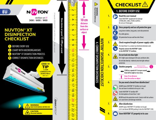 NUVTON disinfection checklist