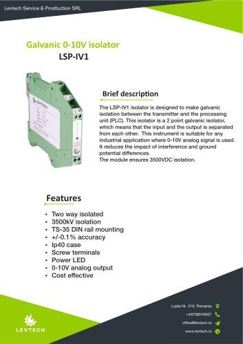 Galvanic 0-10V isolator