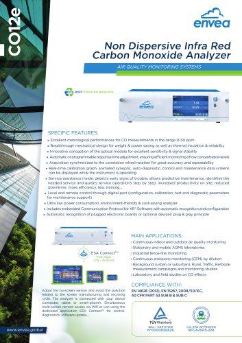 E-Serie - CO12E - carbon monoxide analyzer -CO