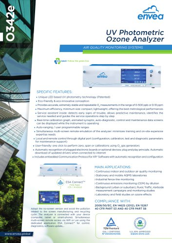 E-Series - 0342e - ozone analyzer for air quaity monitoring