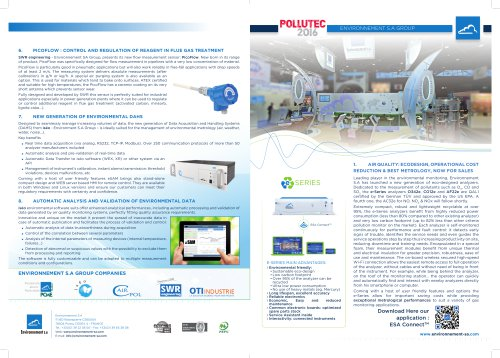 Environnement S.A launches 8 innovations at Pollutec 2016