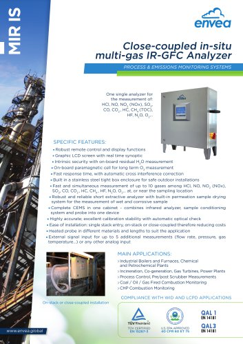 In situ stack multi-gas analyzer IR-GFC MIR-IS