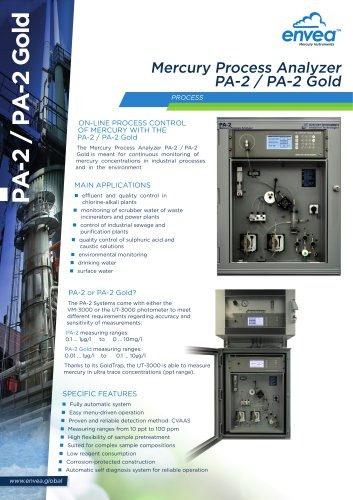 Mercury Process Analyzer PA-2_PA-2 Gold ENVEA