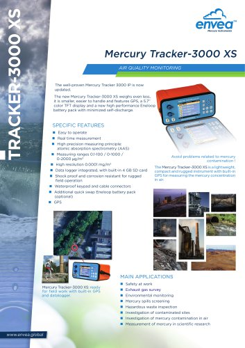 Mercury tracker 3000XS monitor Air quality & Environment