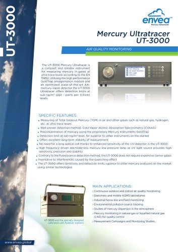 Mercury Ultratracer UT-3000 for measuring mercury in gases