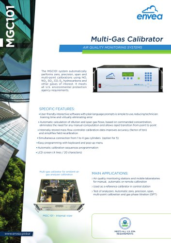 MGC101- Multi-Gas Calibrator