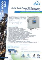 MIR9000CLD multi-gas IR-GFC / CLD analyzer for stack emissions