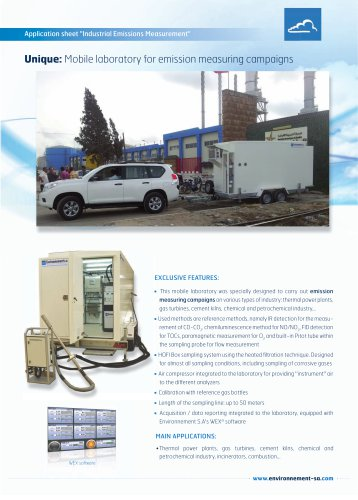 Mobile stack pollution monitoring system ( CEMS )