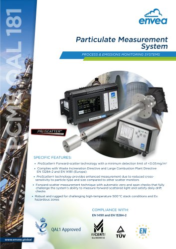 QAL181 stack particulate monitor QAL1 certified