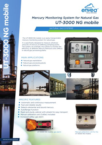 UT3000-NG mobile MERCURY ULTRATRACER Natural Gas ENVEA