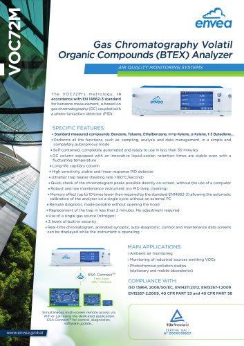 VOC72M- BTEX monitor - VOC chromatograph + PID detector