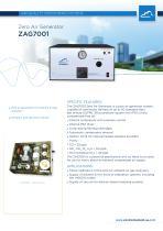 Zero air generator for pollution monitors