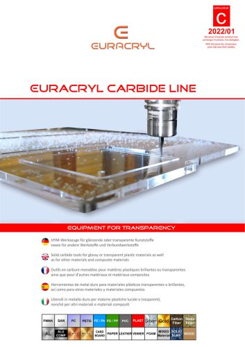 Carbide tools for glossy plastics and other materials
