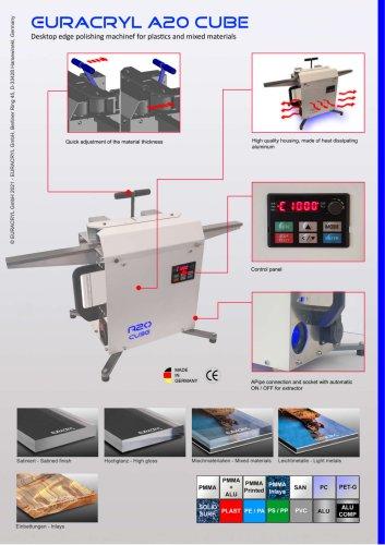 EURACRYL A20 CUBE - Desktop edge polishing machine
