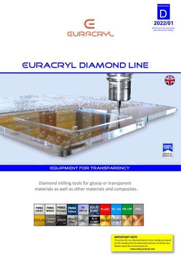 EURACRYL DIAMOND LINE : Diamond end mills for high gloss finish