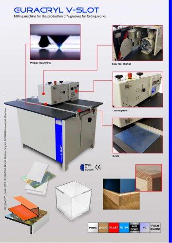 EURACRYL V-SLOT - V-Grooving machine (folding)