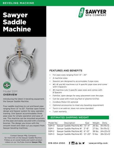 Sawyer  Saddle Machine