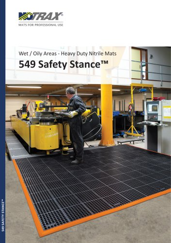 Wet / Oily Areas - Heavy Duty Nitrile Mats 549 Safety Stance™