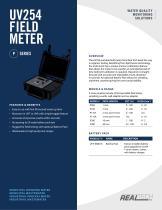 UV Transmittance (UVT) Field Meter Specification Sheet - Real Tech