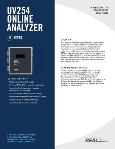 UV254 SOLUTIONS ONLINE ANALYZER