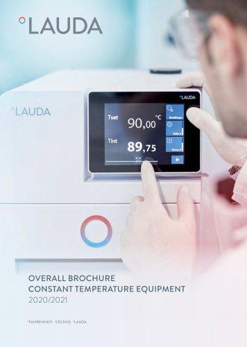 Overall brochure Constant temperature equipment 2020/2021
