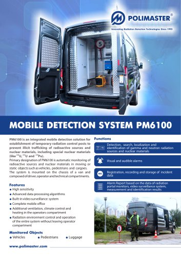 MOBILE DETECTION SYSTEM РМ6100