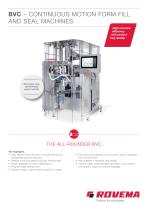 BVC – CONTINUOUS MOTION FORM FILL AND SEAL MACHINES
