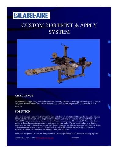 2138 Print & Apply System
