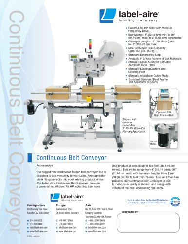 Continuous Belt Conveyor