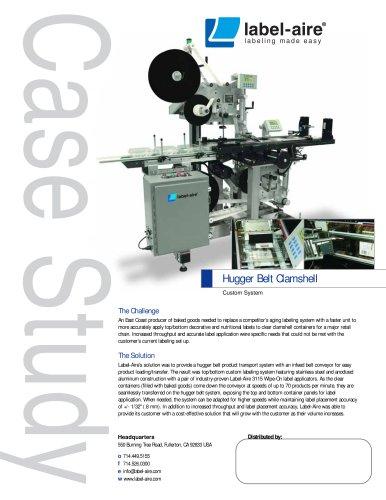 Hugger Belt Clamshell Labeling System