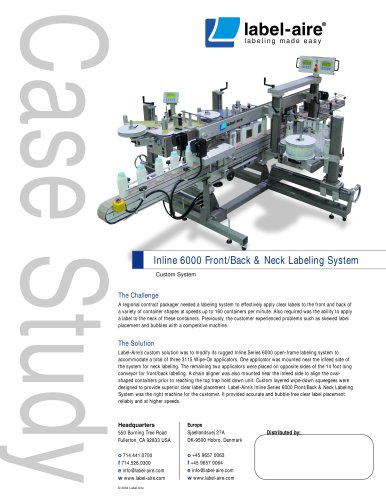 Inline 6000 Front/Back & Neck Labeling System