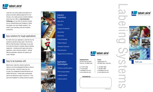Labeling System Full Line Foldout